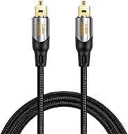 Digital Optical Audio Cable,CableCreation 10FT Toslink Male SPDIF Cable with Nylon Braided Fiber Optic Cord fo
