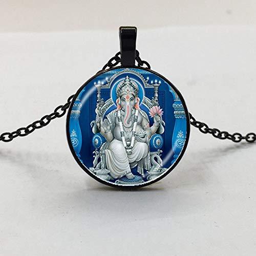 Ganesh Kostüm - DADATU Halsketten für Herren 1stücke Lord Ganesh Ganesha Halskette Gott des Glücks Anhänger Hindu Elefant Halskette Buddha Meditation Spirituelleschmuck Halskette