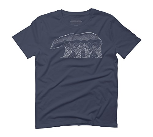 Mountain Bear Men's Graphic T-Shirt - Design By Humans Navy