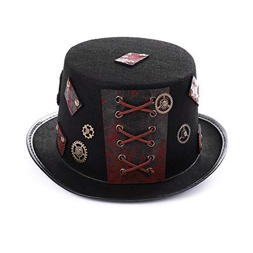Vestido De Traje De Steampunk del Sombrero De Copa De Bronce De Oro Rústico De Halloween para Arriba El Partido Headwear Accesorios De Vestuario