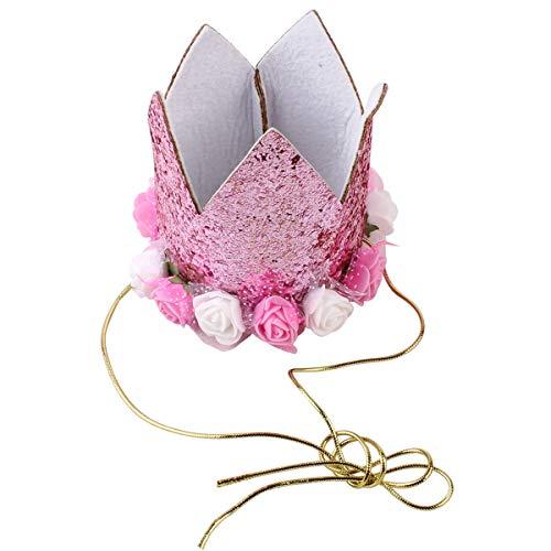 Jinxuny Hunde-Halstuch, süßes Party-Hut für Mädchen Jungen, tolles Hundekostüm, Geburtstagsgeschenk und Party-Dekorationsset Rose