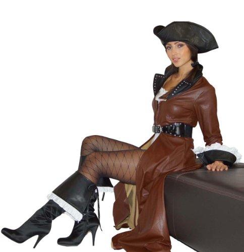Pirat Teilig 5 Kostüm - Maylynn 12208 - Piratenkostüm Kostüm Piratin Sexy Deluxe, braun, 5-teilig, Gr. S