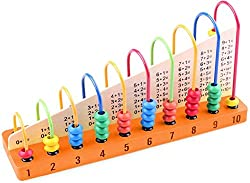 Abaj 10-Grade Multicolor Wooden Counting Abacus Frame For Kids Ages 3+ Years
