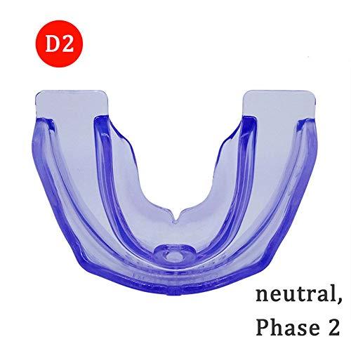 GTTBS-jy Zahnspangen, 4D Kieferorthopädische Retainer-Zahntrainer-Zahnspangen Mundstücke Für Zahnärztliche Zwecke, Zahnpflege, Zahnkorrektur, Verhinderung Von Nachtmolaren,Purple,Phase2 -