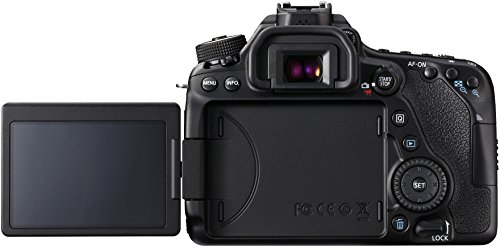 Canon EOS 80D SLR-Digitalkamera (24,2 Megapixel, 7,7 cm (3 Zoll) Display, APS-C CMOS Sensor, 45 AF-Kreuzsensoren, DIGIC 6 Bildprozessor, NFC und WLAN, Full HD) nur Gehäuse schwarz -