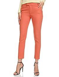 oodji Collection Femme Pantalon en Lin Coupe Droite