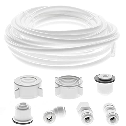 SPARES2GO Water Supply Pipe Tube + Fridge Connector Kit For