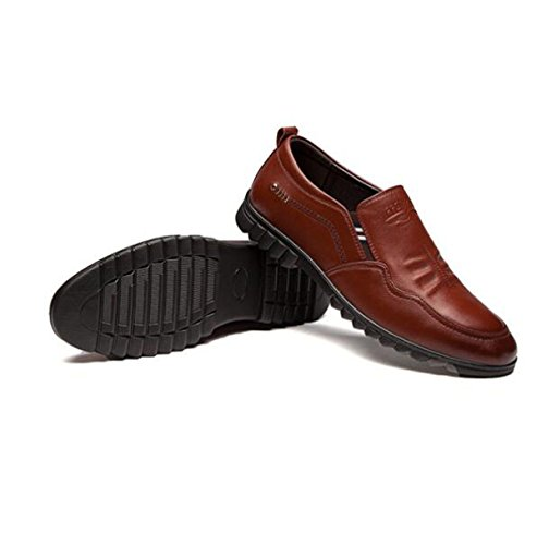 Uomini Scarpe Casual Cuoio Set Di Piedi Scarpe Padre BrownSingleShoes