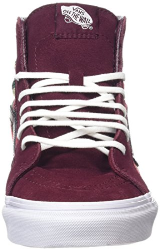 Vans SK8-Hi Slim, Baskets Basses Mixte Adulte Rouge (Italian Weave port royale/multi)