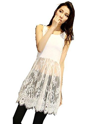 ... Dress sale retailer 4aed4 cd17e  Jinyouju Womens Lace Camisole Long  Tank Top Lace Trim Extend. promo code 5404a 6b04a ... b21e6ecc0