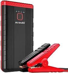 Suaoki U3 - 400A Jump Starter Portable Démarrage de Voiture Booster Batterie Alimentation Eléctrique d'Urgence pour Voiture avec LED Flashlight et attaches intelligentes