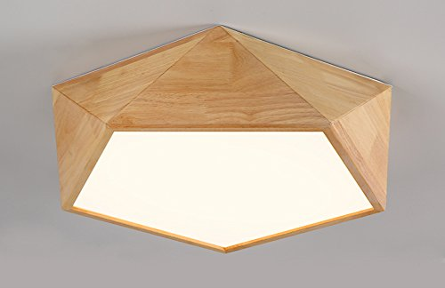 Plafonnier Peaceip Nordic Simple Solid Wood LED Light Ceilight Lamp for Bedroom, Living Room, Corridor, Balcon (Neutral Light) (Couleur : C, Taille : M)