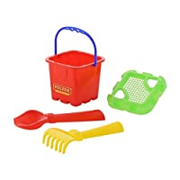 Polesie 7130 No.262 Sieve Shovel Rake No.2-Sets: Fortress Bucket, Multi Colour