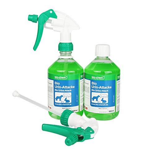 bio-chem BIO URIN ATTACKE Geruchsentferner Katzenurin Hundeurin, Tierurin (2x500 ml)