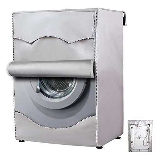 Mr.You Housse pour Lave-Linge/sèche-Linge pour Machine à Chargement Frontal imperméable à l'eau et à la poussière épaisse (l x P x H) 68,6 cm x 89,9 cm - sans Lacet