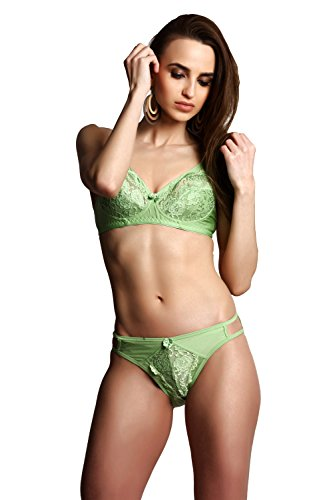 Prestitia Green Bridal Lace Lingerie Set (40B)