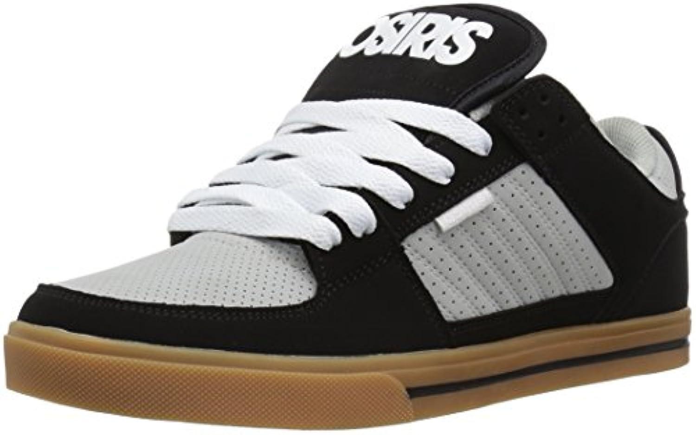 Osiris Men's Protocol Skate Shoe  Black/Light Grey/Gum  8.5 M US
