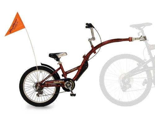 "Wee-Ride Pro Pilot - Bicicleta Infantil para enganchar a Bicicleta de Adulto (Aluminio, 6 velocidades, Rueda de 20""/50 cm), Color Rojo"