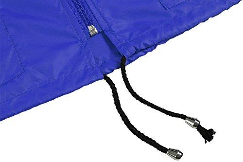 Meaneor Damen Jacke Übergangsjacke Regenjacke mit Kapuze Tasche Regenparka Funktionsjacke Wasserdicht Atmungsaktiv Hellblau