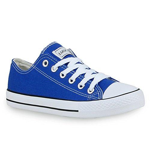 Damen Sneakers Turn Freizeit Low Sneaker Übergrößen Prints Glitzer Denim Schuhe 24760 Blau Ambler 37 Flandell