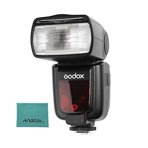 200 Fuß Cab (Godox Thinklite TT685F TTL Kamerablitz Speedlite GN60 2.4G Funkübertragung für Fuji X-T2 X-T1 X-T1 X-T1 X-T1 X-E1 X-A3 X100F X100T Kameras mit Andoer Reinigungstuch)