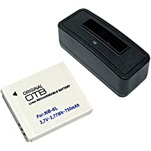 Estación de batería y batería (750mAh) para Canon PowerShot SX540 HS;Batería substituye: Canon NB-6L, NB-6LH