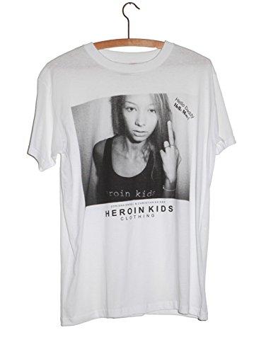 Preisvergleich Produktbild Heroin Kids Clothing Herren T-Shirt Middle Finger Grunge Punk HKCTS097W (L)