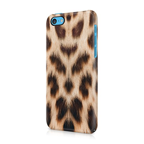Leopard Fur Pattern Durable Plastic Phone Protective Case Cover For Apple iPhone 5C Custodia