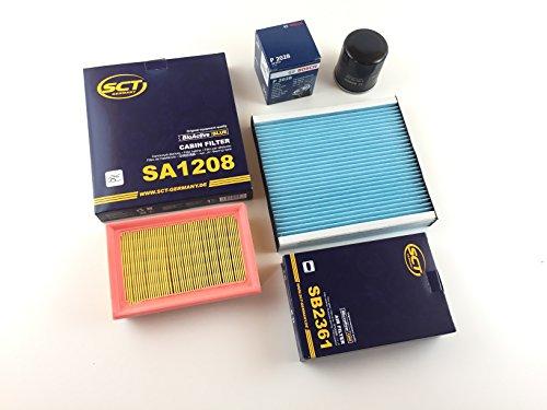 Preisvergleich Produktbild Ölfilter Luftfilter Pollenfilter Toyota Aygo PAB4 KGB4 - 1.0 51 KW / 69 PS