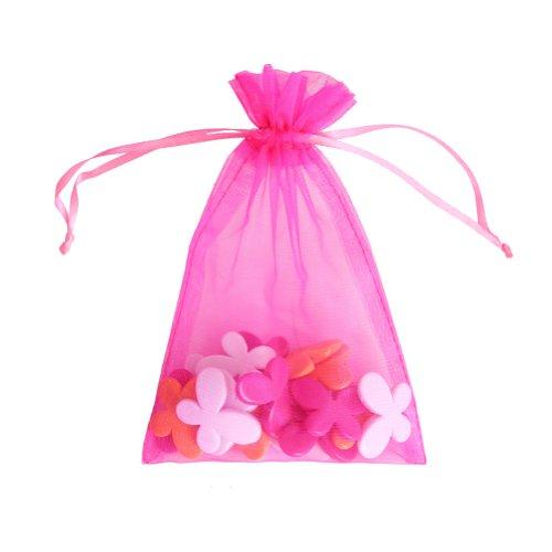 """Preisvergleich Produktbild OurWarm 100 x Organzabeutel mit Kordelzug robust,  Geschenktaschen für Süßigkeiten / Schmuck,  für Party / Hochzeit,  hot pink,  3.5x4.7"""" (9x12cm)"""