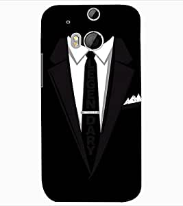 ColourCraft Formal Look Design Back Case Cover for HTC ONE M8
