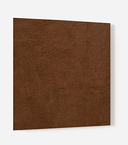 """Fond de hotte en panneau composite aluminium ou crédence de cuisine prête à poser avec adhésif double face """"Texture cuir marron"""" - L. 60 x H. 70 cm - Epaisseur 3 mm - [ Impression Murale® ]"""