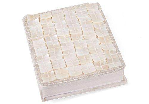 Journal Rêve indien Petit Format relié Fait-main Perlé, Uni Pages (13cm x 9cm x 2cm)