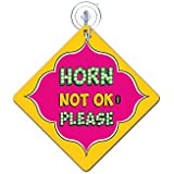 Horn Not Okay Please | car sign