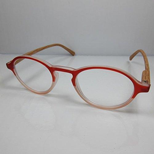 KOST Moderne Lesebrille Holzoptik +2,5 rot Flexbügel unisex Fertigbrille