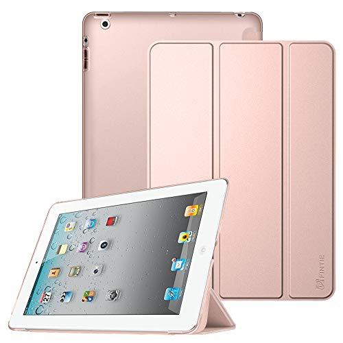 Fintie Hülle für iPad 4, iPad 3 und iPad 2 - Ultradünne Superleicht Schutzhülle mit transparenter Rückseite Abdeckung Cover mit Auto Schlaf/Wach Funktion, Roségold