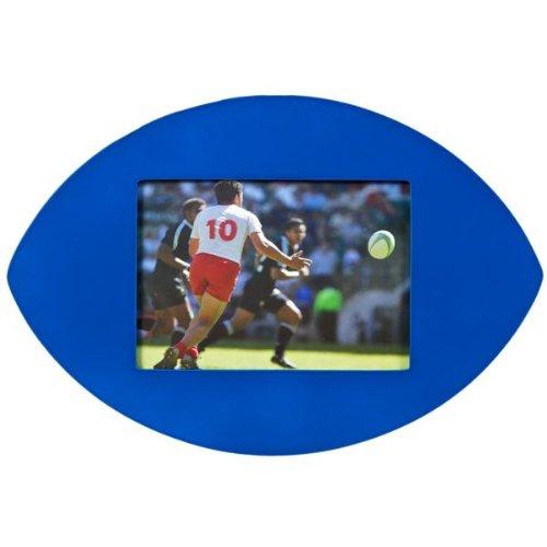 Ballon de rugby Cadre photo–Bleu uni