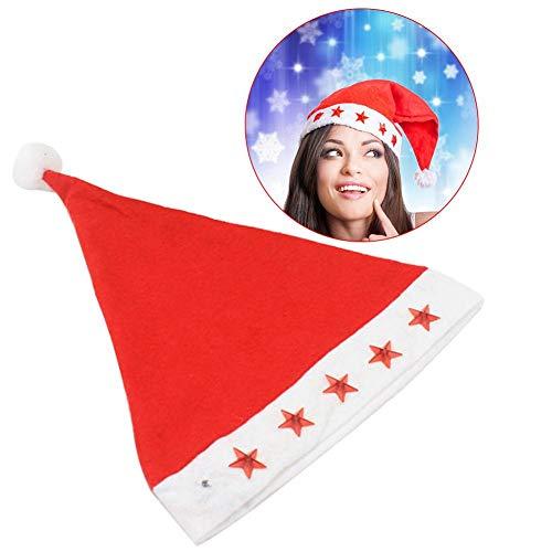 Weihnachtsmütze Nikolausmütze mit Licht LED Nikolaus Mütze Blinkend Kuschelweich Angenehm zu Tragen Für Kinder Erwachsen,10 Pcs