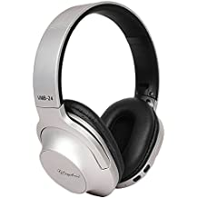 Smazing™ Signature Active Noise Cancelling Bluetooth Headphones Over Ear, Stereo Wireless Headphones With Mic, Never Power Off With Backup Audio Cable, Foldable Headset For PC/ Cell Phones/ TV With 1 Year Warranty (VMB-24 Color May Vary)