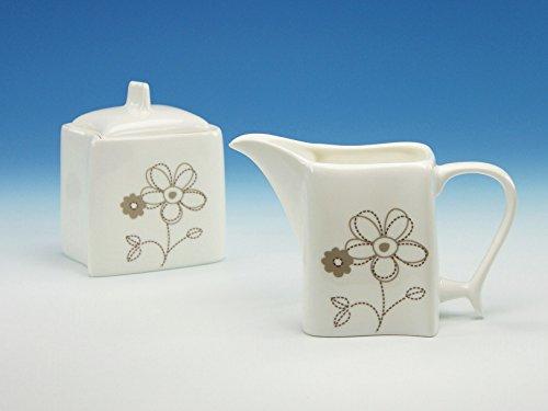 Creatable 19220, Serie Ocean Blume, Geschirrset 2 Teiliges Milch- und Zuckerset