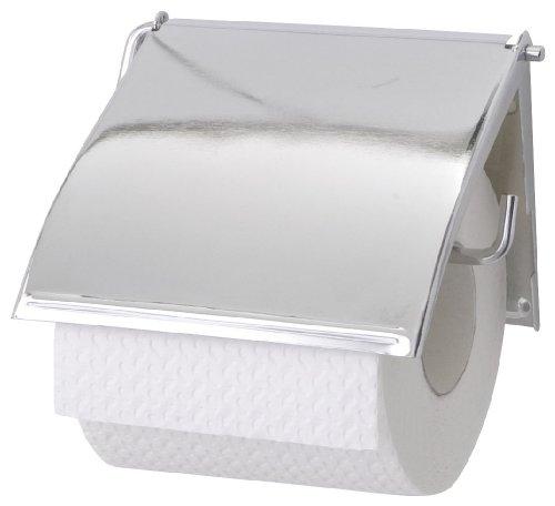 Preisvergleich Produktbild WENKO 18265100 Toilettenpapierhalter Cover - geschlossene Form, Stahl, 13.5 x 12 x 2.5 cm, Chrom