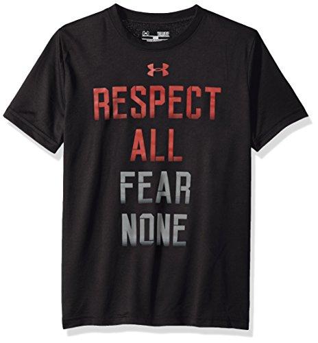 Under Armour Fear None-Maglietta sportiva, da ragazzo, colore: nero, taglia: S (taglia del produttore: YSM)