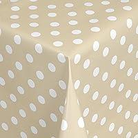 Pflegeleicht Schmutzabweisend Abwaschbar Punkte Gelb Weiss 50x 140 cm Gr/ö/ße w/ählbar Wachstuch Tischdecke Gartentischdecke mit Fleecer/ücken Gartentischdecke