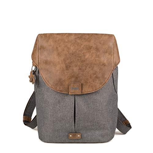 ZWEI Olli O12 Rucksack Backpack Rucksacktasche Handtasche stone grau  -