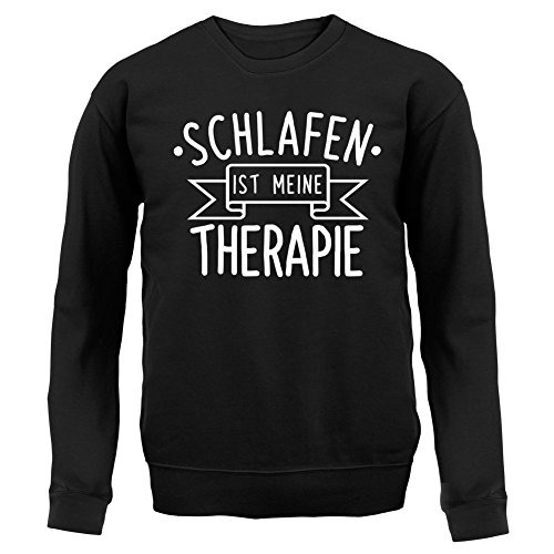 Schlafen ist meine Therapie - Kinder Pullover/Sweatshirt - Schwarz - XXL (12-13 Jahre)