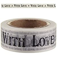 Noticias Imprimir 'With Love' Washi Tape