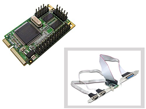 KALEA INFORMATIQUE Controlerkarte Mini PCI Express (MiniPCIE), 2 Ports COM RS232 + 1 Port LPT IEEE1284, DB9 und DB25, Chipset Moschip MCS9901 -