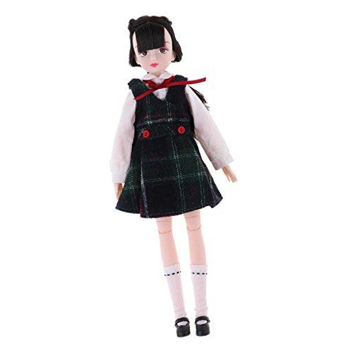 pe Schuluniform/ Stewardess Uniform Outfit Set & 18 Gelenke Puppe Körper für 25 cm Puppe Dress up - Schuluniform - 3 (Hausgemachte Kostüme Für Mädchen)