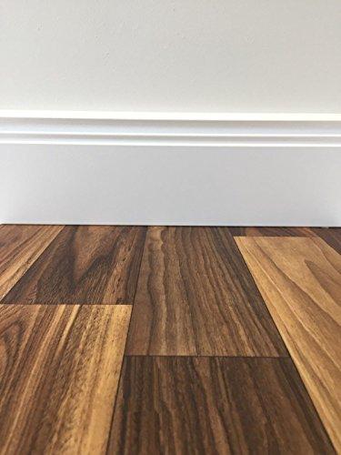PVC-Boden Classic Holzoptik Dunkel rustikal | Muster | Vinylboden versch. Farben & Längen | Fußbodenheizung geeignet | Platten strapazierfähig & pflegeleicht | robuster, rutschhemmender Fußboden-Belag - Walnuss-holz-bodenbelag