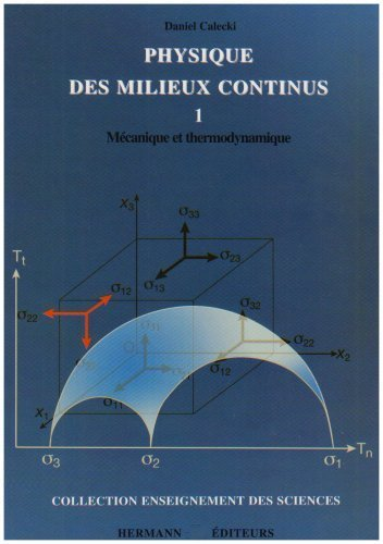 Physique des milieux continus : Tome 1, Mécanique et thermodynamique de Daniel Calecki (14 octobre 2006) Broché